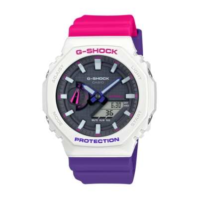 CASIO卡西歐 G-SHOCK 八角型錶殼 GA-2100THB-7A_45.4mm