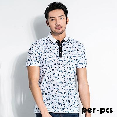 per-pcs 創新印花棉料休閒POLO衫(716505)