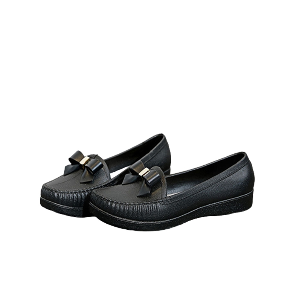 韓國KW美鞋館-(現貨)復古感小蝴蝶護士鞋(共1色) (黑色)