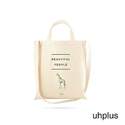 uhplus Animal Talk 動物兩用帆布包-長頸鹿(綠)