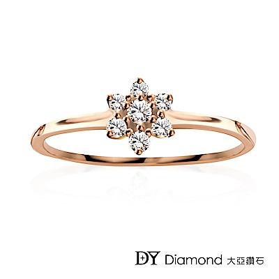DY Diamond 大亞鑽石 L.Y.A輕珠寶 18K玫瑰金 捧花鑽石線戒