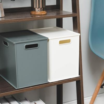 樂嫚妮 堆疊/收納整理箱/收納盒/收納置物箱-3入含一蓋-2色