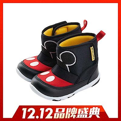 迪士尼 米奇 經典造型 中筒靴-黑