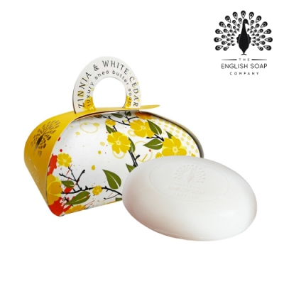 The English Soap Company 乳木果油植萃香氛皂-雪松百日草 Zinnia and White Cedar 260g