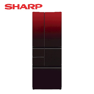 SHARP夏普 501L 4級變頻6門電冰箱 SJ-GT50BT-R 星鑽紅