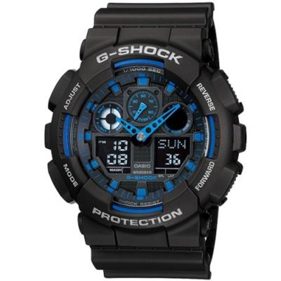 CASIO卡西歐 粗獷個性風格G-SHOCK系列(GA-100-1A2)