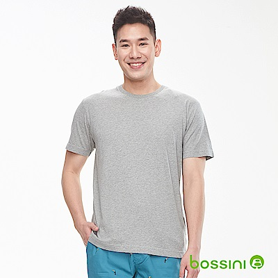 bossini男裝-素色純棉圓領T恤淺灰