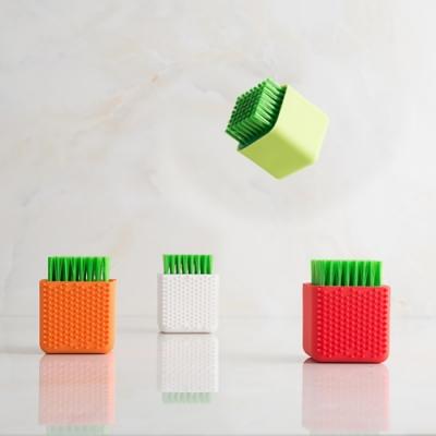 盆栽外型矽膠方塊清潔刷