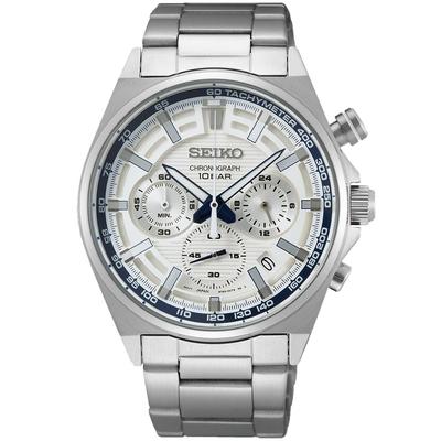 SEIKO 精工 140週年限量CS三眼計時錶41mm限量200台(SSB395P1/8T63-00S0S)