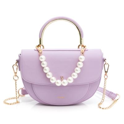 PLAYBOY - 手提馬鞍包附鍊條長背帶 Elegant系列 - 淡紫色