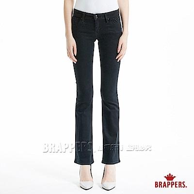 BRAPPERS 女款 新美腳Royal系列-中低腰彈性鑲鑽小靴型褲-深藍