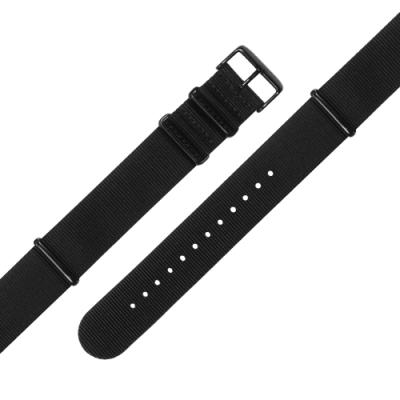 Watchband / DW代用 各品牌通用 輕便柔軟 尼龍錶帶 黑色