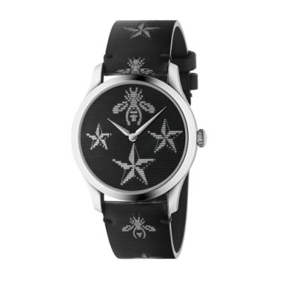 GUCCI G-TIMELESS個性蜜蜂皮帶腕錶YA1264105