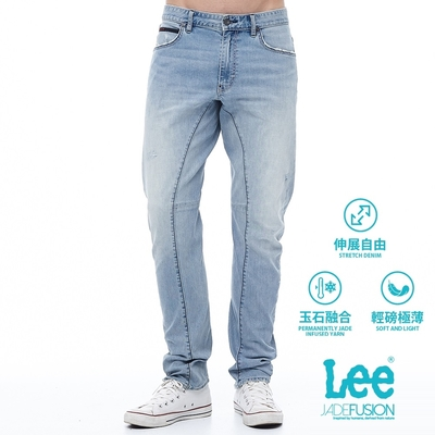 Lee 788 Jade Fusion精玉沁涼 中腰3D立體剪裁舒適直筒 牛仔褲 男款 淺藍 彈性