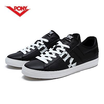 【PONY】TOP STAR系列-個性塗鴉復古鞋款-男-黑