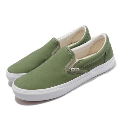 Vans 休閒鞋 V98CF Bloom Slip On 男女鞋 懶人鞋 無鞋帶 好穿脫 情侶鞋 綠 白 6117920002