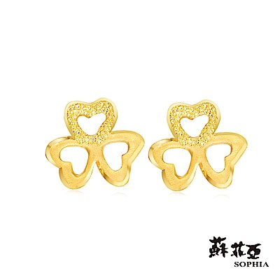蘇菲亞SOPHIA - G LOVER系列三葉草黃金耳環