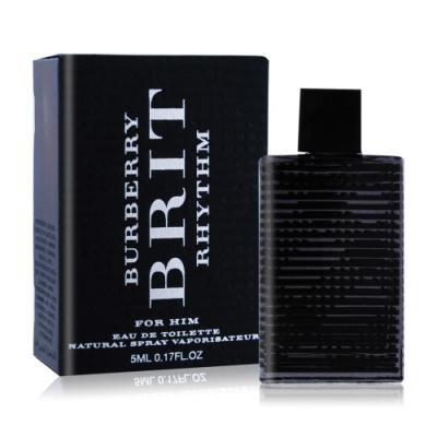 *BURBERRY BRIT RHYTHM 搖滾風格男性淡香水5ml