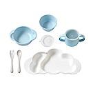 10mois 粉彩雲朵竹纖維餐具組-旗艦版(顏色任選)