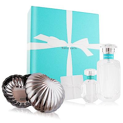 Tiffany & co. 同名淡香精-聖誕限量禮盒+GEORG JENSEN 心型置物盒