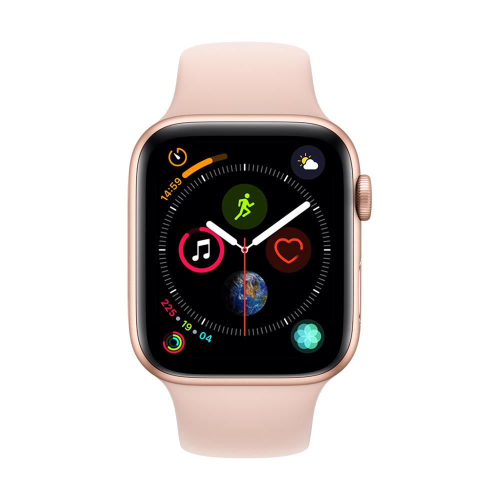 Apple Watch Series 4(GPS) 44mm金色鋁金屬錶殼+粉沙色運動錶帶