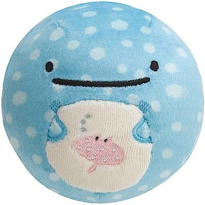 鯨鯊先生微笑的臉系列丸子QQ掌心公仔。鯨鯊先生San-X