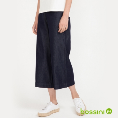 bossini女裝-輕鬆寬褲海軍藍