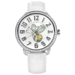 Tendence 天勢表 機械錶自動上鍊珍珠母貝防水真皮手錶-白色/48mm