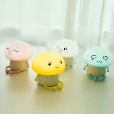 半島良品 多功能矯情Q仔蘑菇舒壓療癒小夜燈 (4款)[限時下殺]