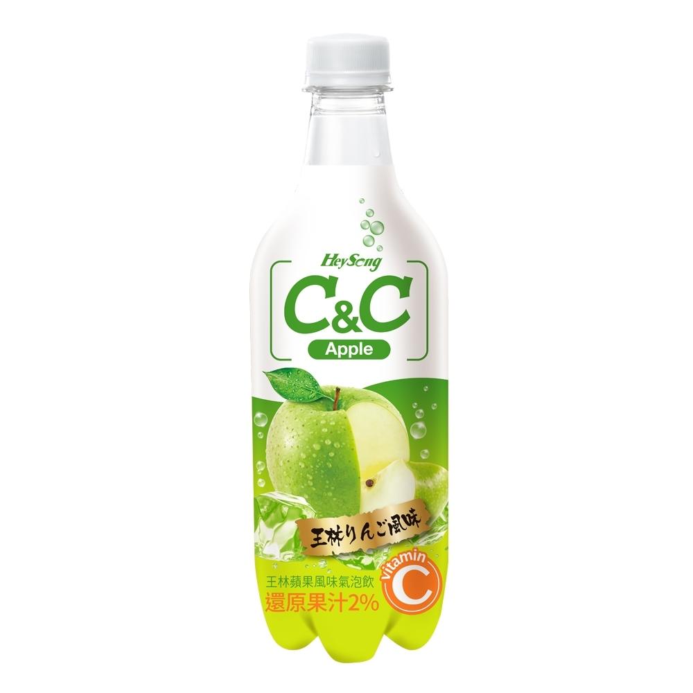 黑松C&C氣泡飲 王林蘋果風味(500mlx24入)