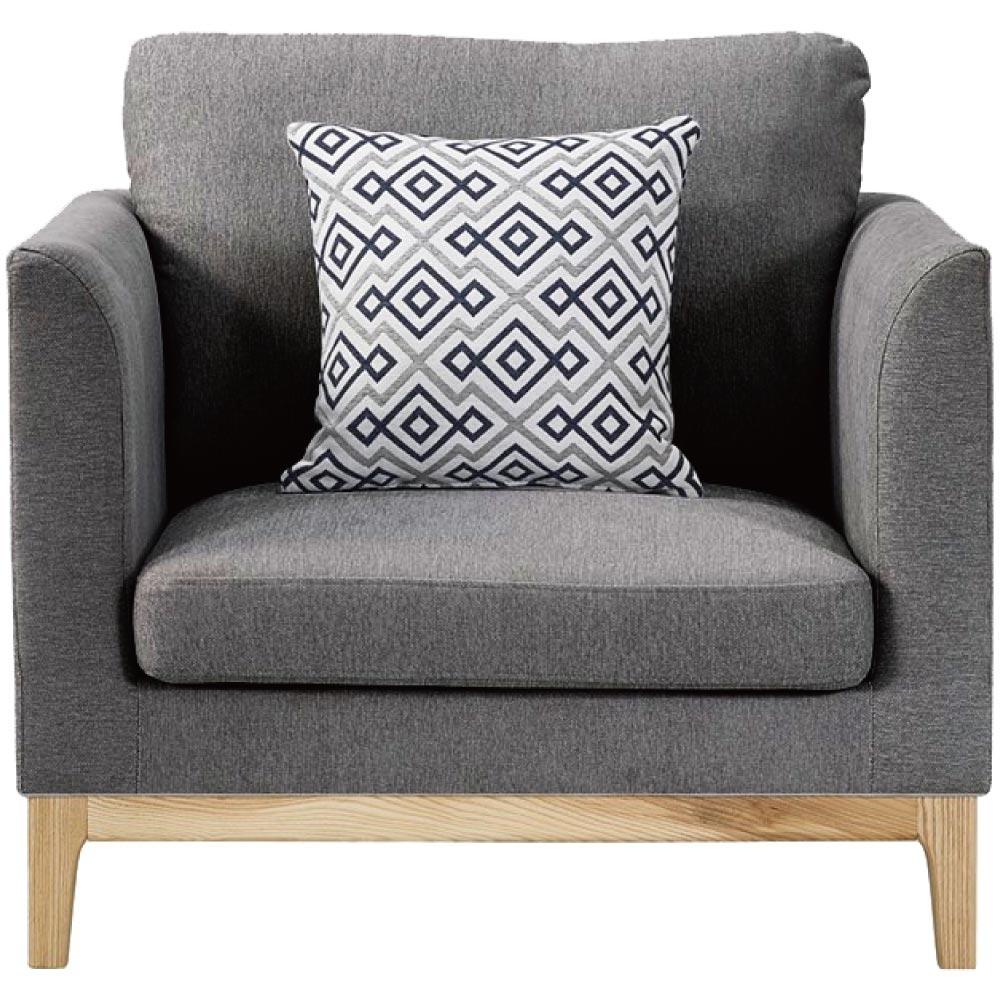 文創集 貝洛卡單人座棉麻布沙發椅(純粹木語+二色)-88x82.5x84cm免組