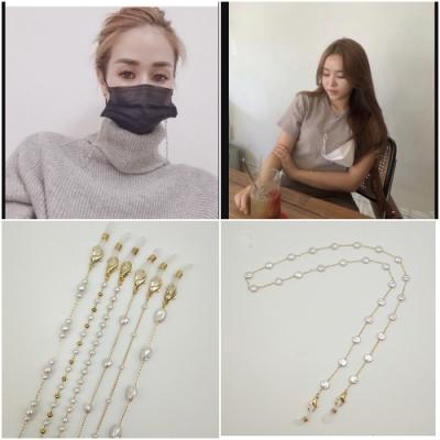 梨花HaNA 韓國設計天然珍珠串珠美麗裝飾口罩二用項鍊.防丟口罩鍊可當項鍊