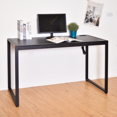 凱堡 馬鞍皮革128x60x77cm工作桌/辦公桌