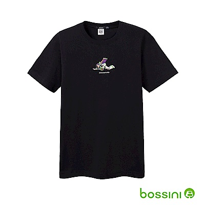 bossini男裝-玩具總動員印花T恤-巴斯光年01黑