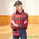 bossini女裝-格紋法蘭絨襯衫01紅黑格紋