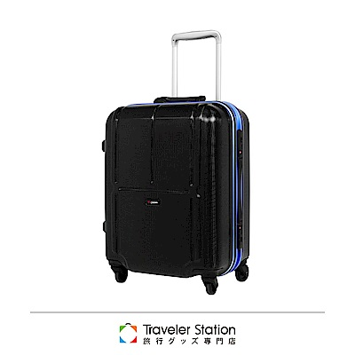 CROWN 皇冠 19吋彩色鋁框登機箱 行李箱 黑色深藍框