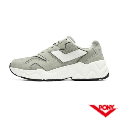 【PONY】MODERN 2系列 復古單色 慢跑鞋 電光鞋 女鞋-綠