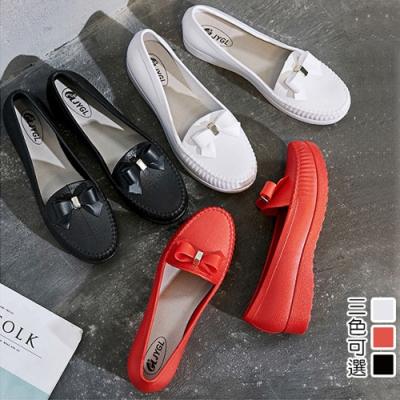 韓國KW美鞋館-復古感小蝴蝶護士鞋-黑色