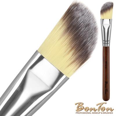 BonTon 原木系列 圓斜粉底/敷臉刷 RT010 三色纖維直毛