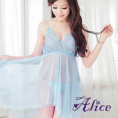 Alice天空藍蕾絲睡衣女僕女傭制服公主式套裝(AK054)