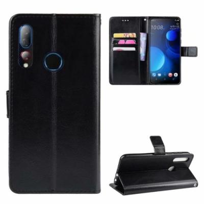 PKG HTC Desire19 Plus 側翻式皮套經典皮革-多色可選