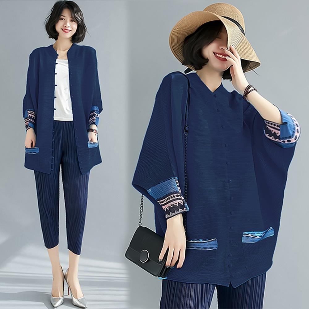 【KEITH-WILL】(預購)爆推甜美氛圍壓褶外套(共3色) (藏青色)
