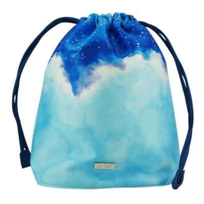 LA MER海洋拉娜 限量星空束口袋化妝包(藍)