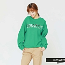 H:CONNECT 韓國品牌 女裝 - LOGO配色大學T-綠(快)