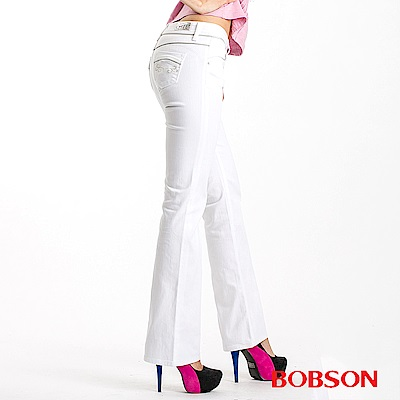 BOBSON 女款金色出芽小喇叭褲