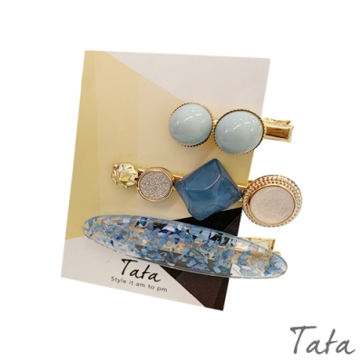 藍調海洋珍珠髮夾(3入) TATA
