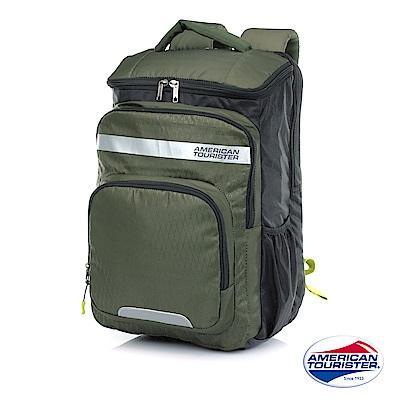 AT美國旅行者 Doddle+多層收納附防塵雨套後背包(軍綠)