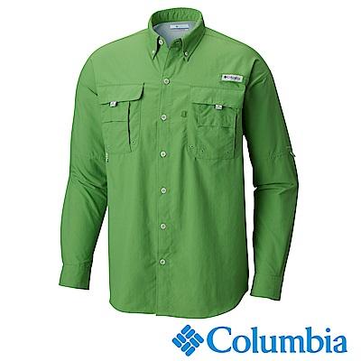 Columbia哥倫比亞 男款-防曬30快乾長袖襯衫-綠色 UFM70480GR