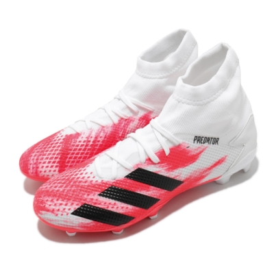 adidas 足球鞋 Predator 20 3 FG 男鞋 愛迪達 三線 偏硬場地 短草場地 鞋釘長 白 紅 EG0910
