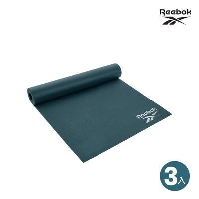 Reebok輕薄防滑瑜珈墊(4mm)三入特惠組 [福利品]